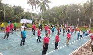 Jaga Kebugaran, PTPN VII Unit Way Berulu Gelar Senam dan Ngopi Bersama Kepala Desa Penyangga Perusahaan
